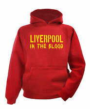 Liverpool In The Blood Hoodie T shirt sports hoody sport football