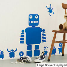 Toy Robots Pack of 10 ( Childrens Bedroom ) Wall Art Stickers, Easy Peel, Boys