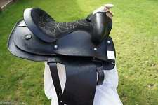 * NEW * WESTERN SADDLE & BRIDLE SET WITH SADDLE PAD & CINCH ALL COLOURS / SIZES