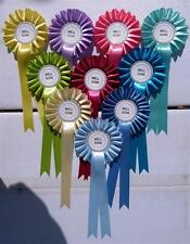 SATIN ROSETTES 10x 1 TIER 38MM, WELL DONE, CLEAR ROUND OR SPECIAL FREE SHIPPING