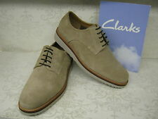 Clarks SALE Freely Turn Wolf Taupe Suede Leather Smart Lace Up Shoes