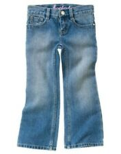 GYMBOREE BUTTERFLY BLOSSOMS DENIM BOOT CUT JEANS 3 4 5 slim 8 9 nwt