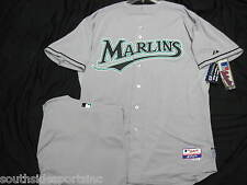 FLORIDA MARLINS AUTHENTIC GREY COOL BASE JERSEY MAJESTIC NEW WITH TAGS