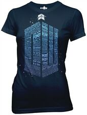 New Dr Who DW Logo Of Words Womens T Shirt Sci Fi TV Movie