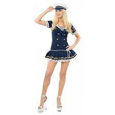 Sailor Costume Adult Sexy Navy Pin Up Girl Halloween Fancy Dress