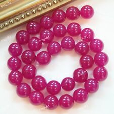 6mm 8mm 10mm 12mm 14mm 16mm 18mm pretty Dark Pink Smooth Round jade bead 15''