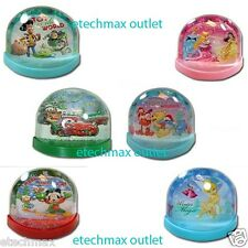 Disney characters Lenticular Plastic Snowglobe Princess Fairies Cars Mickey Toy