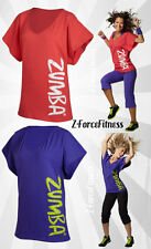 Zumba Sexy FLAUNT IT FANCY TOP Shirt 2 Colors S M L XL Fitness Zumbawear New NWT