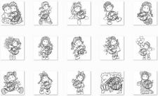SWEET CRAZY LOVE COLLECTION by Magnolia-Unmounted Rubber Stamp-Stamping Craft