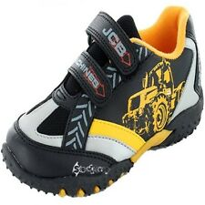 Boys JCB Machines Fastrac Trainers Shoe Sizes 8-2 Black Yellow
