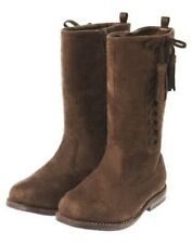 GYMBOREE SUNFLOWER SMILES BROWN TASSEL SUEDE RIDING BOOT 9 10 11 12 13 1 2 3 NWT