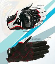 Motorcycle Motorbike Motocross Sports Racing Armed Leather Mesh Gloves MLXL