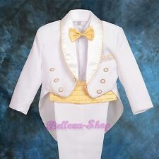 5 pcs Formal Tuxedo Tux Suit Wedding Party Baby Boys Baby Size 6-24m ST014A