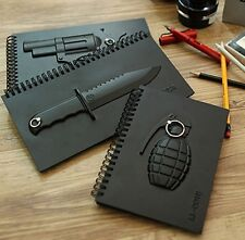 New Weapon Hardcover Notebook Journal Diary Paper Memo Note Pad Key Holder Note