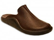 Romika Mokasso 202 Brown Leather House Slipper metric sizes
