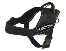 Working Dog Harness Yellow Trim with Search Dog Velcro Patch Label Tag