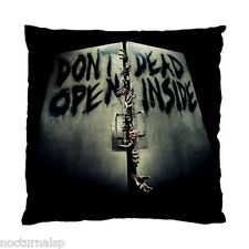 NEW CUSHION CASE PILLOW CASE - Don't Open Dead Inside Zombies Walking Zombie