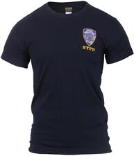 Navy Blue Officially Licensed Embroidered NYPD Logo Police T-Shirt
