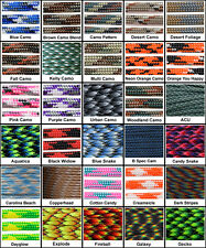 550 Paracord Mil Spec Type III 7 strand parachute cord 10ft, 25ft, 50ft, 100 ft