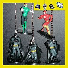 DC COMICS FIGURES CEILING FAN PULLS S1-CHOICE OF BATMAN & GREEN LANTERN OR FLASH
