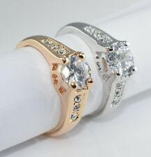18K Gold Plated Ring 7mm use Swarovski Crystal  Wedding  Xmas  R112 - 8 choice