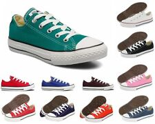NEW Girls Boys Converse CT All Star Ox Canvas Trainers Twelve 12 Colours UK 11-2