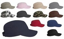 NEW Unisex Valucap Fidel Cadet Cap Military Army Style Hat Bio Wash Chino Twill