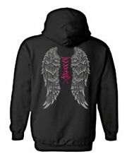 WOMEN'S PULLOVER HOODIE Sexy Pink Corset Angel Wings S-XL 2X 3X 4X 5X 7 COLORS