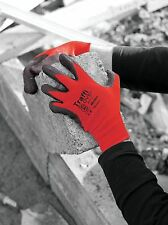 Red Traffi Glove Motion Cut Level 1 TG165 Box of 100 Pairs Size 9 Large or 10 XL