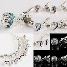 Wholesale Crystal Rhinestone Disco Dangle Ball European Beads Fit Charm Bracelet