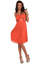 Womens Designer Bridesmaid Cocktail Evening Prom Party Mini Dress H1119 Coral