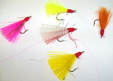 SILLY WILLY LURES 1/0 HOOK TEASERS OR FLIES HAND TIED FOR POMPANO, BLUEFISH..2PK