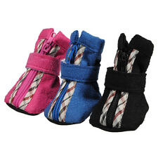 4Pcs Winter Warm Adjustable Pet Dog Puppy Shoes Boots Sneakers Zipper 4 Sizes