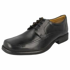 """MENS CLARKS LACE UP SHOES BLACK G FITTING """"HANDLE SPRING"""""""
