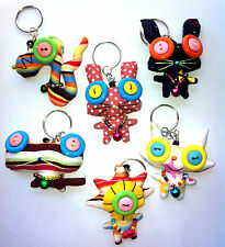 Cutie Monster Mutant Doll, Key Ring Button Eye Bag Doll. SMALL SIZE Mosh 3+