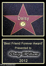 NEW BEST FRIEND AWARD HOLLYWOOD STAR WALK PERSONALISED GIFT HIGH QUALITY PRINT