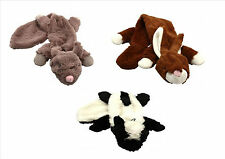 unstuffed dog toys stuffing free roadkill with squeaker happy pet 3 types
