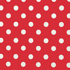 RED & WHITE POLKA DOT PVC VINYL WIPE CLEAN TABLECLOTH FREE P&P & MANY SIZES