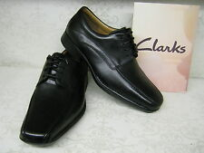 Clarks Francis Air Black Leather Smart Lace Up Shoes