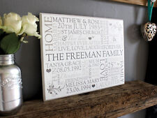 Chic & Shabby FAMILY MEMORIES Personalised Wooden Plaque Sign Unusual Gift Idea