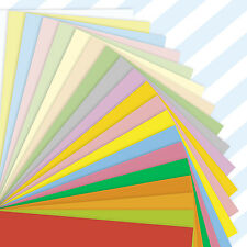A4 Sheets Mixed Coloured Craft Printer Copier Paper 80gsm Stock Pack Plain