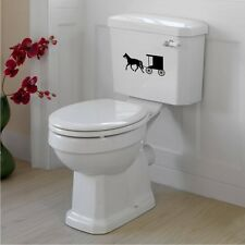 Horse & Buggy Toilet Tank Decal / Sticker Wall Mural Art Amish Bathroom