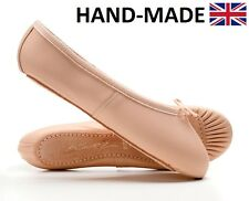 Ladies & Girls Pink Leather Full Sole Dance Ballet Shoes All Sizes By Katz