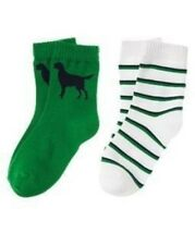 GYMBOREE PREPSTER PUP DOG N STRIPE 2-pair OF BOYS SOCKS 3 4 5 7 8 9 NWT