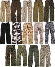 Distressed Washed Military Paratrooper Tactical BDU Fatigue Pants