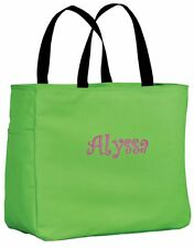 Personalized Tote Bag Dance Pool Beach Cheer Shopping Custom Embroidered Gift