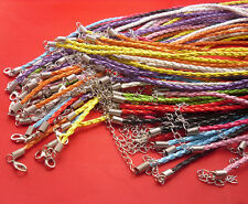 "50pcs real leather weaving Mixed necklace cord 17.5"" Free shipping"
