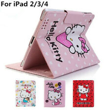 Hello Kitty Cute Smart Leather Case Cover for New iPad 4th with Retina&ipad 2&3
