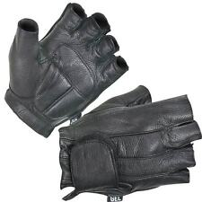 Fingerless Gel Filled Soft Deerskin Motorcycle Gloves Same day shipping