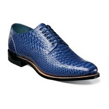 NEW STACY ADAMS 00055-400  Madison Anaconda Print Leather  Men's Shoe Blue 7-14